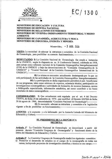 Comisión Uruguaya de Oceanografía - dinara
