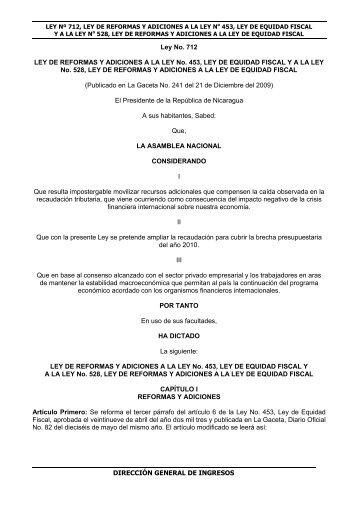 Ley N° 712 - Dirección General de Ingresos DGI