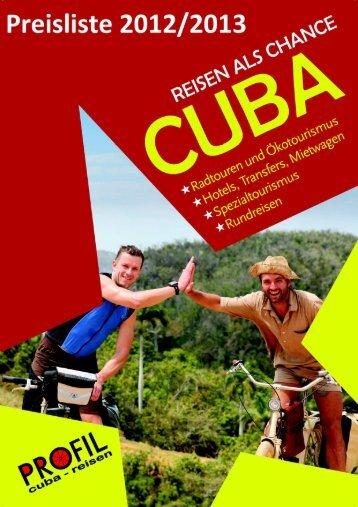 Gesamtpreisliste. - Profil Cuba-Reisen, Manfred Sill