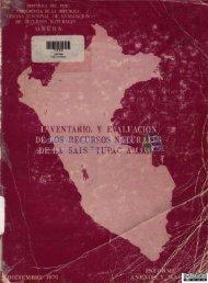 Inventario y evaluación de los recursos naturales de la Sais