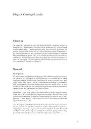 Bilaga 3. Osteologisk analys - Stockholms läns museum
