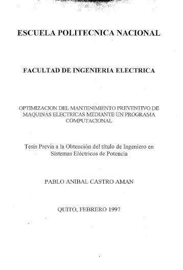 facultad de ingeniería eléctrica - Repositorio Digital EPN - Escuela ...