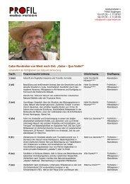 Cuba-Rundreise von West nach Ost - Profil Cuba-Reisen, Manfred Sill