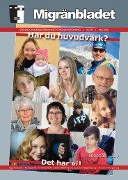 Migränbladet 87 - Svenska Migränförbundet