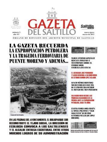 gazeta marzo 2013.pmd - Archivo Municipal de Saltillo