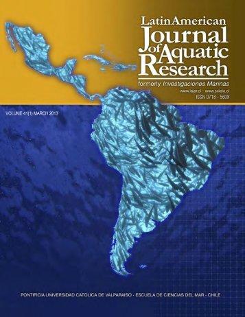 Portada LAJAR-2013 (1).psd - Latin American Journal of Aquatic ...