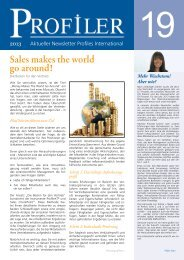 Der neue Profiler Newsletter 19 steht zum Download - Profiles GmbH