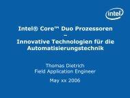 Intel Presentation - Profimatics