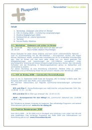 ¡ Newsletter September 2008 - Pluspunkt