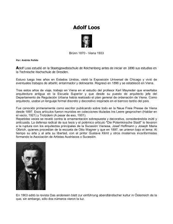 Adolf Loos - Tripod