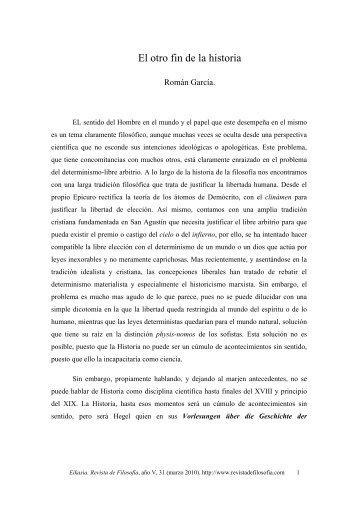 El otro fin de la historia - EIKASIA - Revista de Filosofía