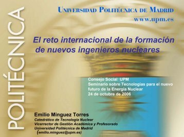 Emilio Mínguez Torres - Fundación para Estudios sobre la Energía
