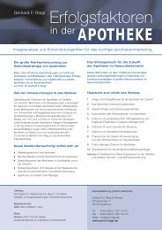 Bestellflyer Apo Erfolgsfaktoren - Prof. Riegl & Partner GmbH