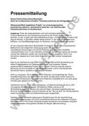 Pressemitteilung Patientenaufnahme BM - Prof. Riegl & Partner GmbH