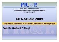 MTA Studie 2009 Praesentation - Prof. Riegl & Partner GmbH