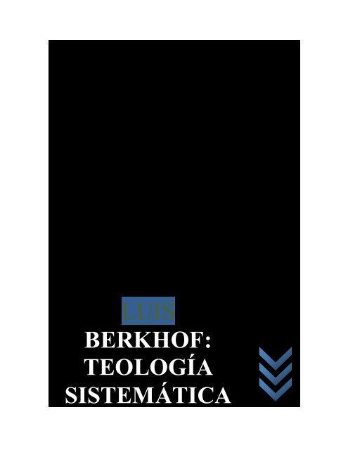 teologia sistematica berkhof pdf