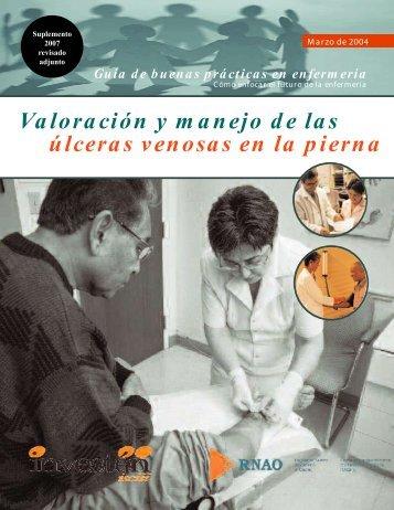 Valoración y manejo de las úlceras venosas en - Registered Nurses ...