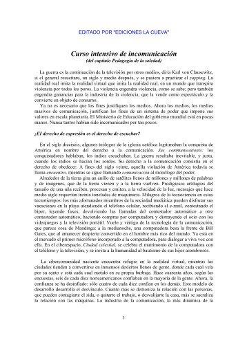 Galeano Eduardo - Curso intensivo de incomunicación.pdf