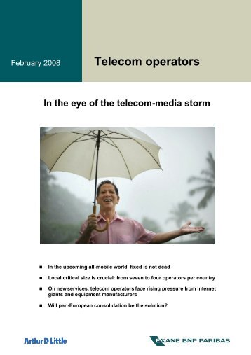 In The Eye Of The Telecom-media Storm - Arthur D. Little