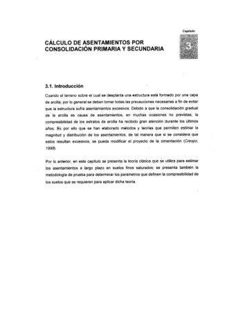 cálculo de asentamientos por consolidacion primaria y secundaria
