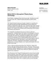 100th TriplexPro™-Based System Sale Marks Market Shift - Sulzer