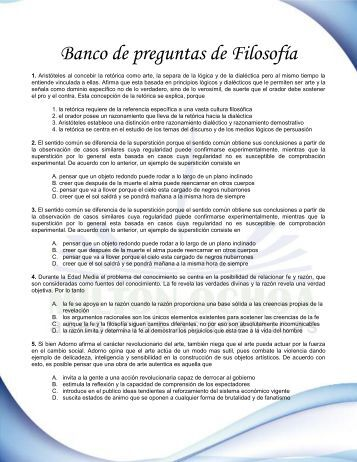 Banco de preguntas de Filosofía - miltonochoa.com
