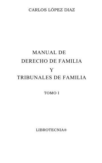 manual de derecho de familia y tribunales de familia - Facultad de ...