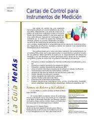 Cartas de Control para Instrumentos de Medición - MetAs