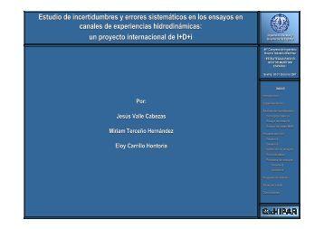 Estudio de incertidumbres y errores sistemáticos en los ensayos en ...