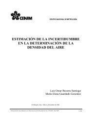 ESTIMACIÓN DE LA INCERTIDUMBRE EN LA DETERMINACIÓN ...