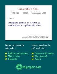 Analgesia genital: un sistema de modulación no ... - edigraphic.com
