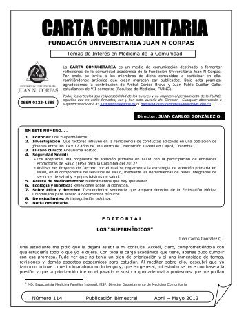carta comunitaria - Fundación Universitaria Juan N. Corpas