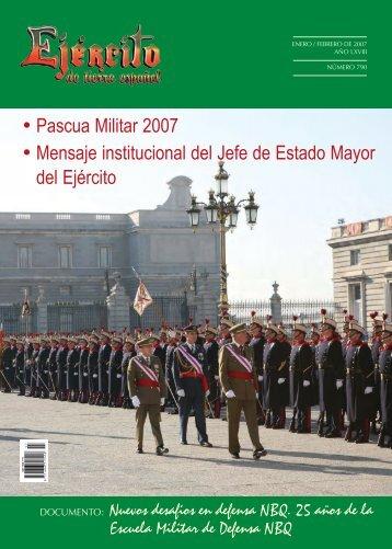 REVISTA EJÉRCITO Nº 790_ENERO/FEBRERO 2007 - Portal de ...