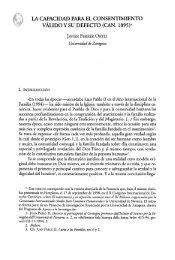 la capacidad para el consentimiento válido y su defecto (can. 1095)