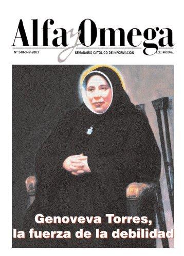 Genoveva Torres, la fuerza de la debilidad ... - Alfa y Omega