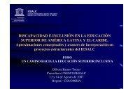 DISCAPACIDAD E INCLUSIÓN EN LA EDUCACIÓN SUPERIOR DE ...