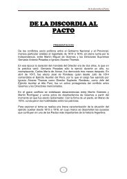 De la Discordia al Pacto - Salta