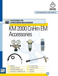 ACCESSORIES FOR HYDROCARBON ... - Ados GmbH