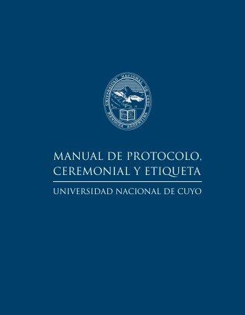 manual de protocolo, ceremonial y etiqueta - Universidad Nacional ...