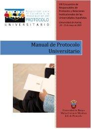 MANUAL para la organización de actos en la universidad