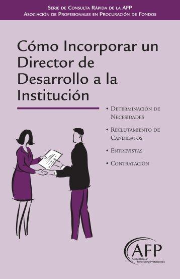 Cómo Incorporar un Director de Desarrollo a la Institución