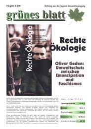 Oliver Geden: I Umweltschutz zwischen ... - Projektwerkstatt