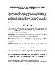 C O N V O C A - Gobierno del Estado de Baja California