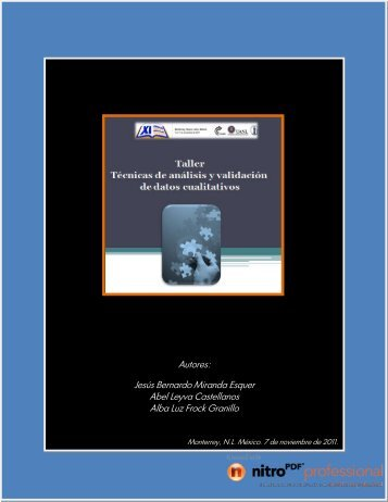 taller de analisis y validacion de datos cualitativos - bernardomiranda