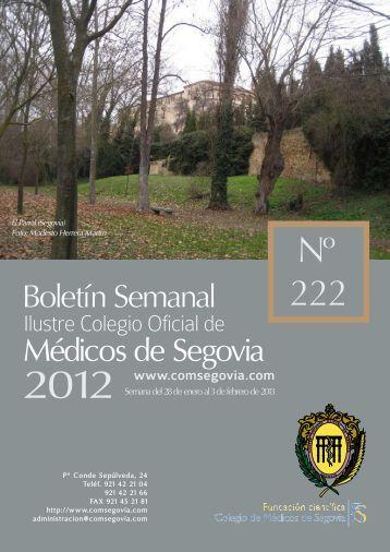 Descargar Boletín Nº 222 - Ilustre Colegio Oficial de Médicos de ...