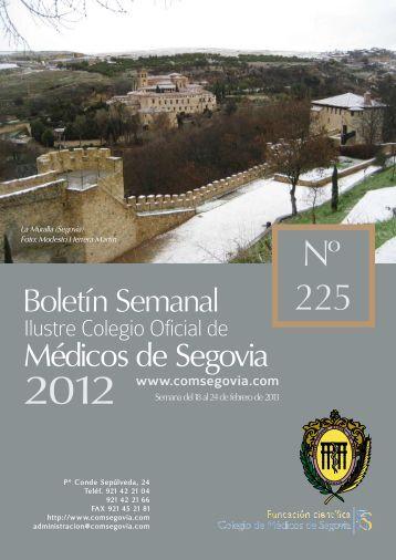 Descargar Boletín Nº 225 - Ilustre Colegio Oficial de Médicos de ...