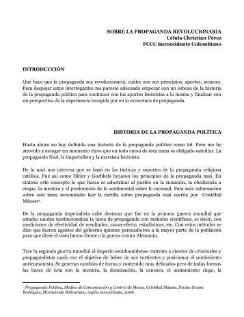 propaganda revolucionaria - Movimiento Bolivariano por la Nueva ...