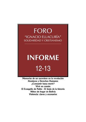 Informe 12-13. Murcia - Foro Ignacio Ellacuría