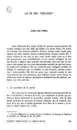 LA FE DEL TEÓLOGO* - Universidad de Navarra