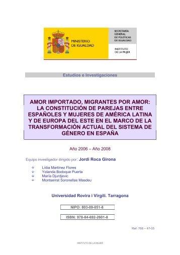 amor importado, migrantes por amor: la constitución de parejas ...